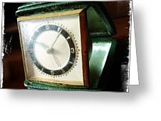 Old Clock Greeting Card by Les Cunliffe