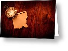 Old Clock Note Greeting Card