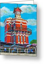 Old Clock Tower Greeting Card