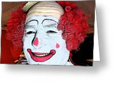 Old Clown Backstage Greeting Card