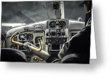 Old Cockpit Greeting Card