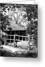 Old Corral And Barn Greeting Card