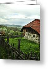 Old Cottage Greeting Card by Jelena Jovanovic