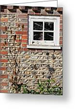 Old Cottage Window Sussex Uk Greeting Card