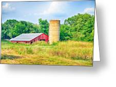 Old Country Farm And Barn Greeting Card