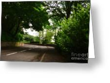 Old Country Road - Peak District - England Greeting Card