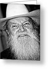 Old Cowboy In Black And White Greeting Card