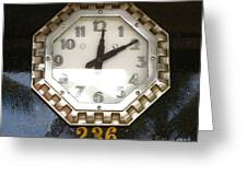 Old Decco Store Clock At 236 Worth Ave Palm Beach Fl Greeting Card