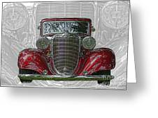 Old Desoto Greeting Card