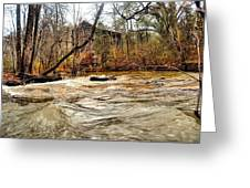 Old Dial Mill On The Rushing Waters Of Big Haynes Creek Greeting Card