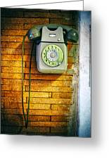 Old Dial Phone Greeting Card