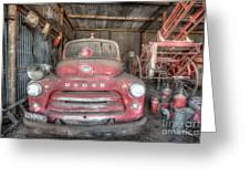 Old Dodge Fire Truck Greeting Card by Shannon Rogers