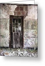 Old Door - Abandoned Building - Tea Greeting Card by Gary Heller