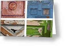 Old Door Panels Greeting Card