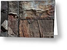 Old Door Textures Greeting Card