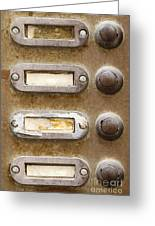 Old Doorbells Greeting Card