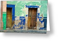 Old Doors, Mexico Greeting Card