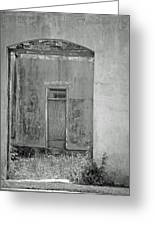 Old Doorway Bw Greeting Card