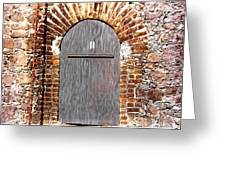 Old Doorway Of Pidgeon Island Fort Greeting Card