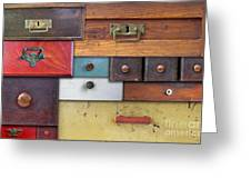Old Drawers - In Utter Secrecy Greeting Card