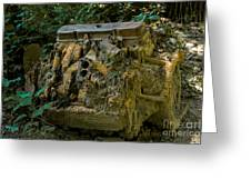 Old Engine Now Rust Greeting Card