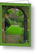 Old English Garden Greeting Card