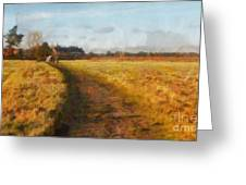 Old English Landscape Greeting Card by Pixel Chimp
