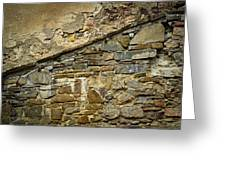 Old Eroded Stone Wall Greeting Card