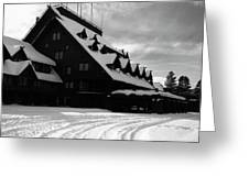 Old Faithful Inn In Winter Greeting Card