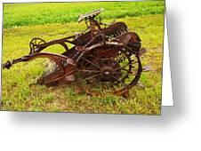 Old Farm Equipment Hardin Montana Greeting Card