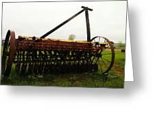 Old Farm Equipment Greeting Card