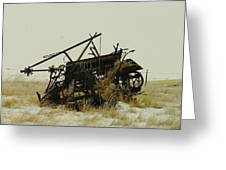 Old Farm Equipment Northwest North Dakota Greeting Card by Jeff Swan