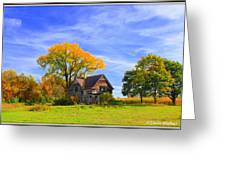 Old Farm Home Greeting Card