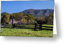 Old Farm House At Cades Cove Greeting Card