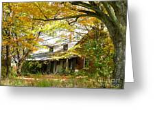 Old Farm House Behind Color Greeting Card