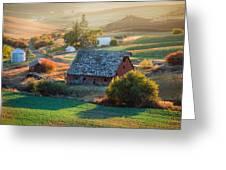 Old Farm In Eastern Washington Greeting Card