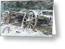 Old Farm Wagon Greeting Card by Nick Payne