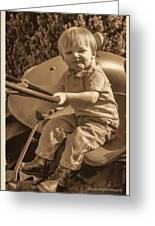 Old Farmer Greeting Card