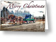 Old Fashion Merry Christmas Greeting Card