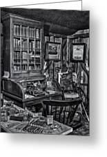 Old Fashioned Doctor's Office Bw Greeting Card