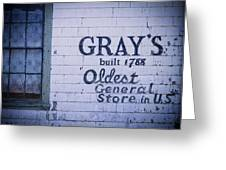 Old Fashioned General Store Abandoned Greeting Card