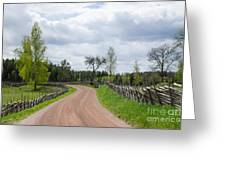Old Fashioned Gravel Road Greeting Card