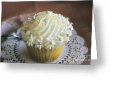 Old Fashioned Lemon Cupcake Greeting Card