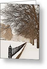 Old Fashioned Winter Greeting Card