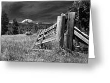 Old Fence At Mount Lassen Greeting Card