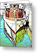 We Will Soon Go Away With The Old Ferry  Greeting Card by Hilde Widerberg