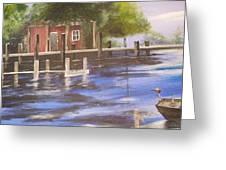 Old Fishin Cabin Greeting Card
