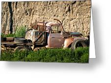 Old Flatbed International Truck Greeting Card