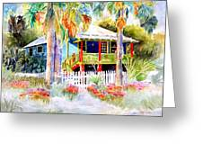 Old Florida House  Greeting Card