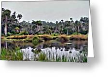 Old Florida Waterway Greeting Card